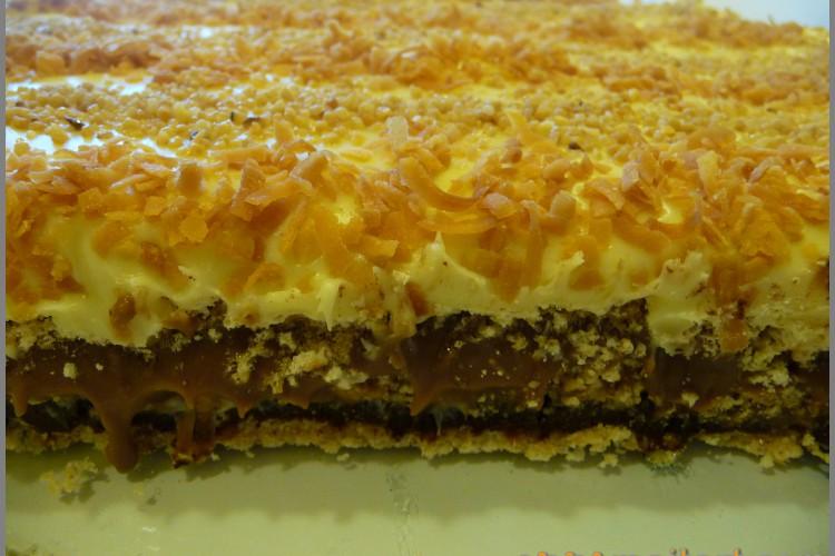Three layers chocolate tort