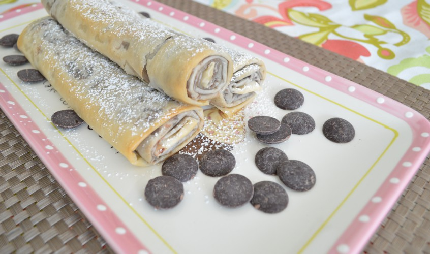 Chocolade blin with filo