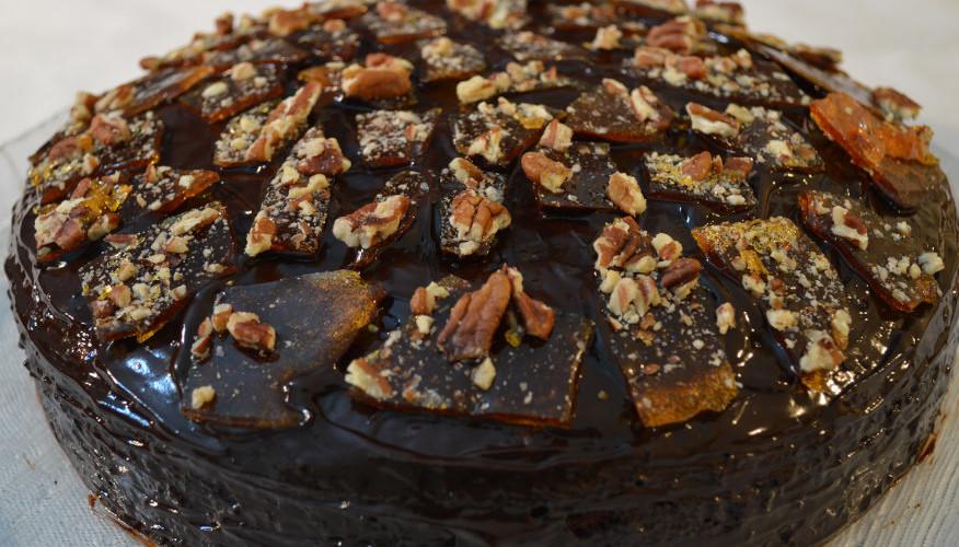Tort pekan with kokos